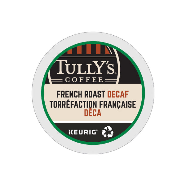 Tully's Decaf French Roast K-Cup® Recyclable Pods (Case of 96)