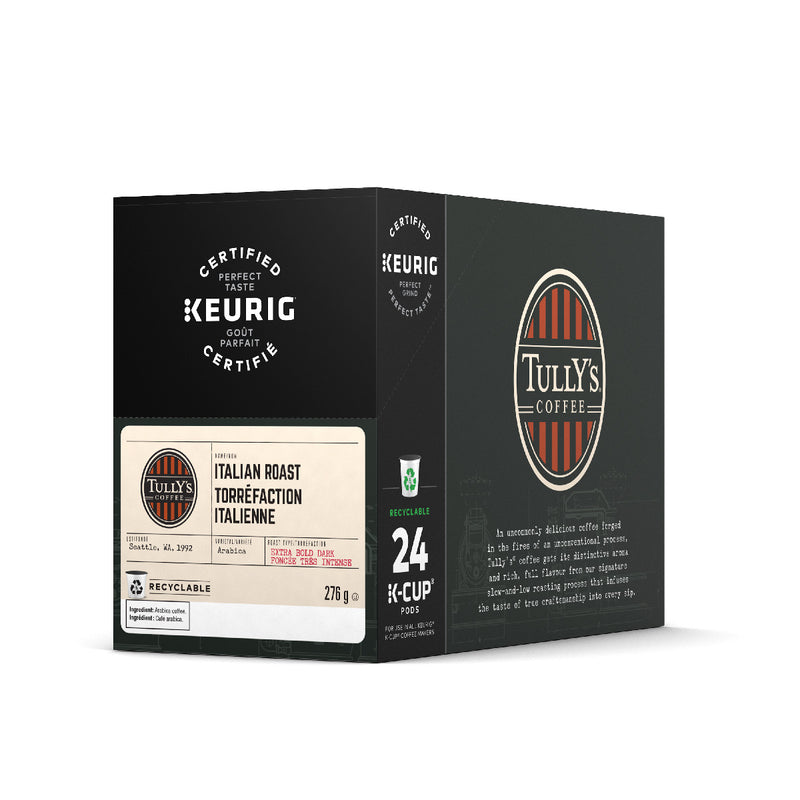Tully's Italian Roast K-Cup® Recyclable Pods (Case of 96)