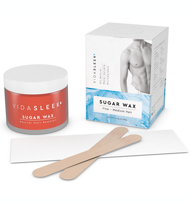 Sugar Hair Removal Wax Kit For Men Women Vidasleek