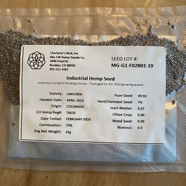 Lindoera seed package comes with Seed Lot Information and the address / phone number of the company.