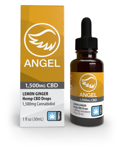 1,500mg Hemp CBD Drops - Lemon Ginger