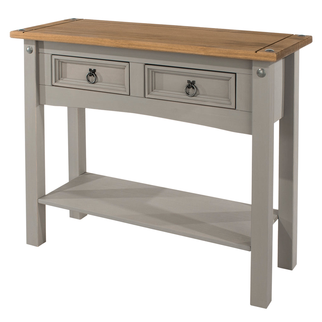 Wood Hall Table Console 2 Drawers | Furniture Dash