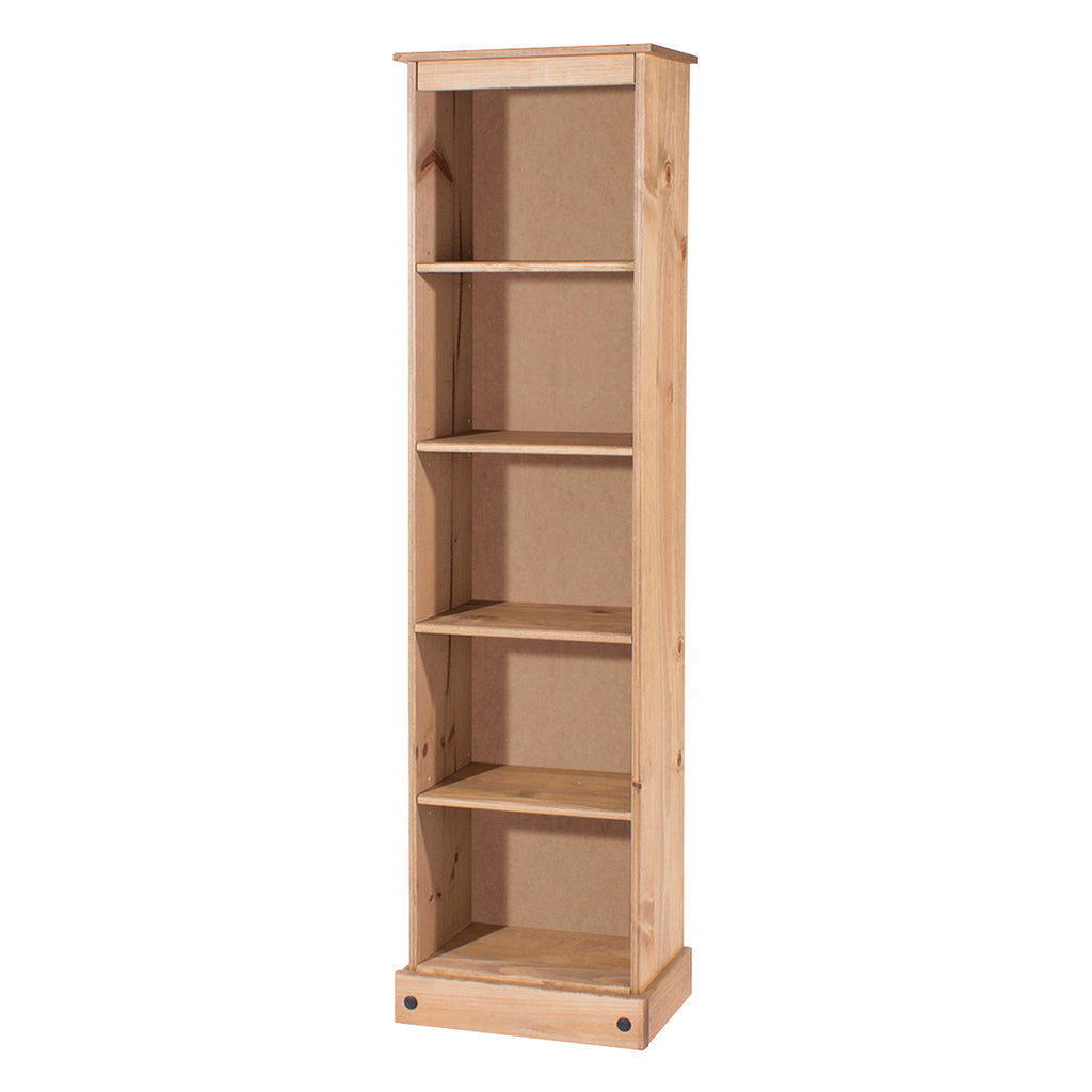 Wood Bookcase Tall Narrow Corona | Furniture Dash
