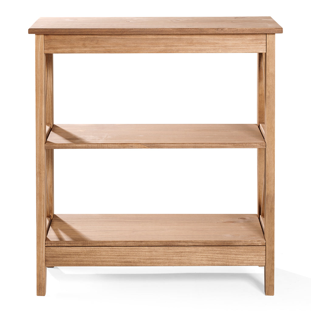 Wood Shelf Unit 3 Tier Corona | Furniture Dash