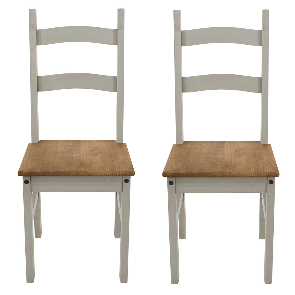 Solid Wood Dining Chair (Set of 2) Corona Gray | Furniture Dash