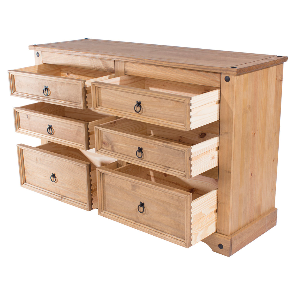 Wood Dresser 3+3 Drawers Chest Corona | Furniture Dash
