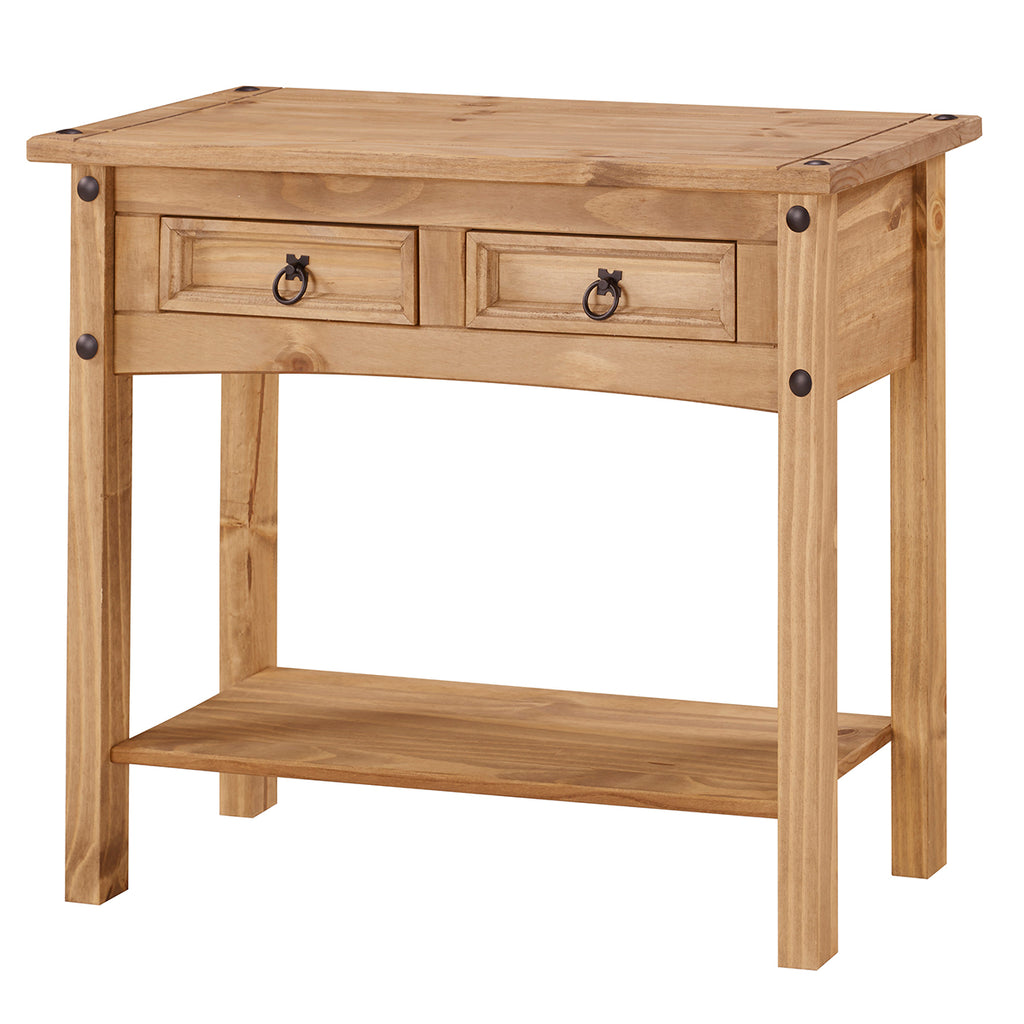 Wood Hall Table Console 2 Drawers Corona | Furniture Dash