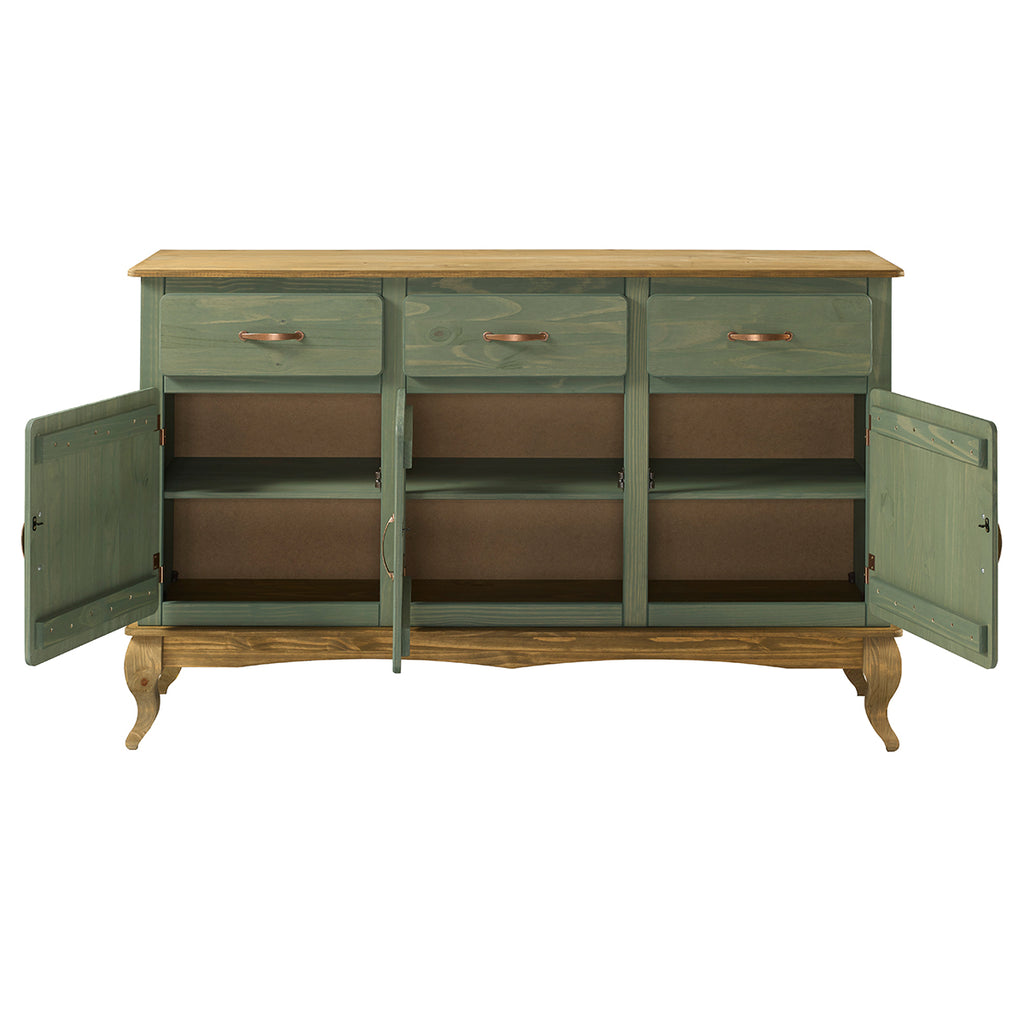 Wood Buffet Sideboard Green | Furniture Dash