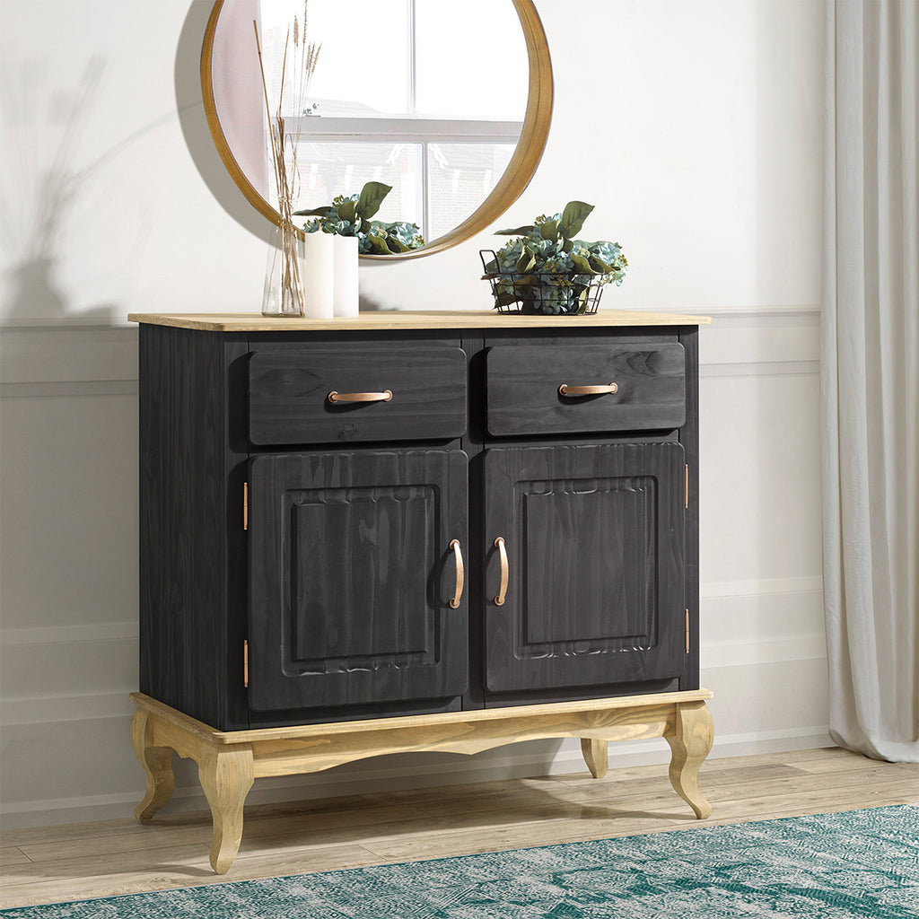 Wood Buffet Sideboard Black | Furniture Dash