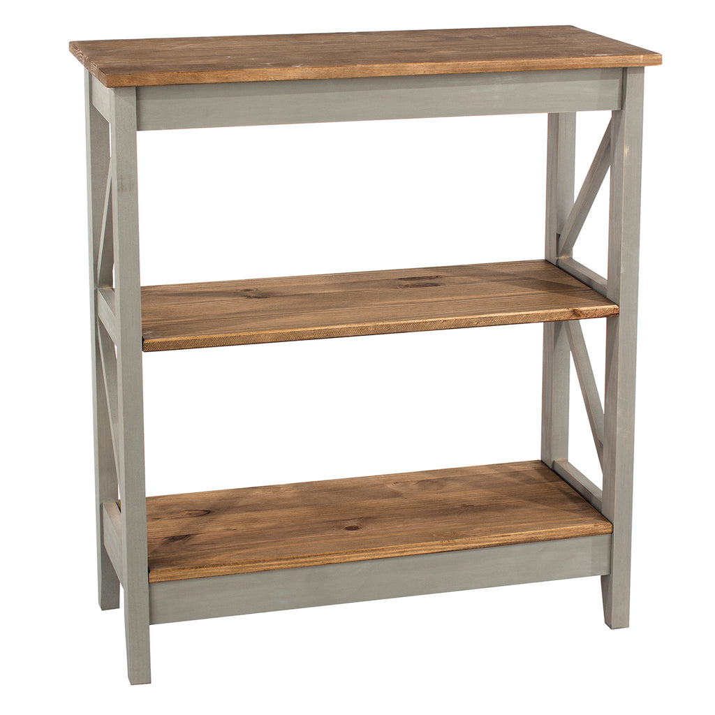 Wood Shelf Unit 3 Tier Corona Gray | Furniture Dash