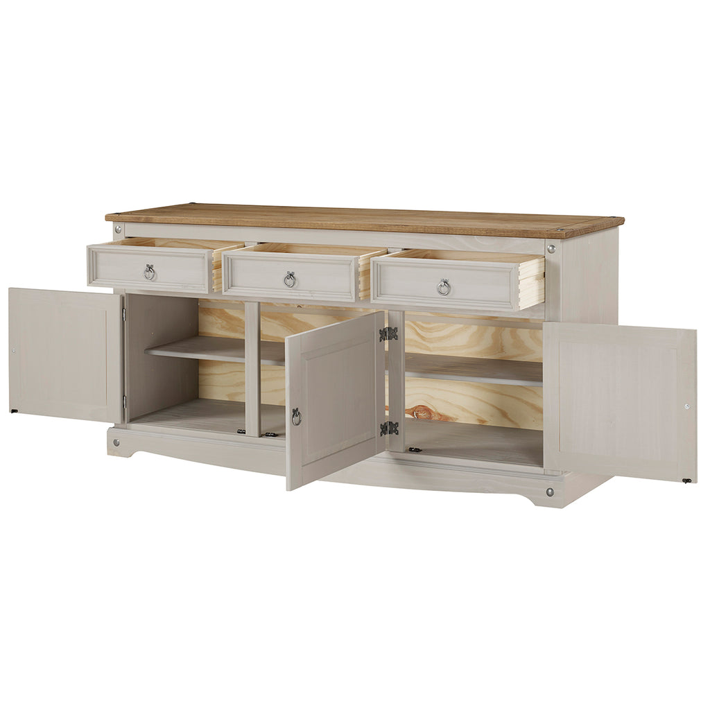 Wood Buffet Sideboard Corona Gray | Furniture Dash