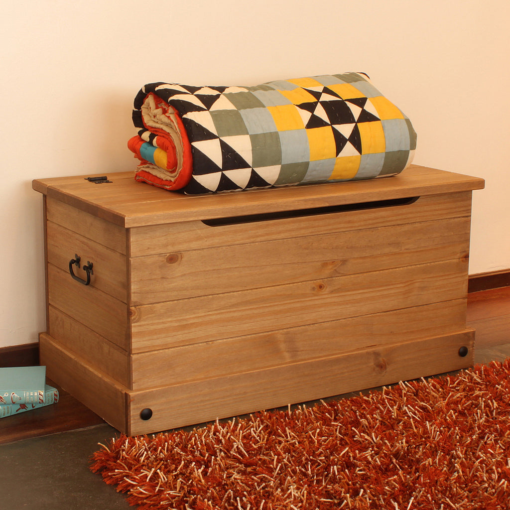 Wood Storage Trunk Ottoman Corona | Furniture Dash