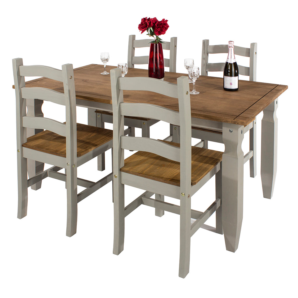 Wood Dinning Table Large Corona Gray | Furniture Dash