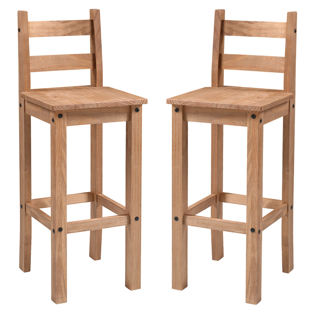 Wood Bar Height Dining Chair (Set of 2) Corona | Furniture Dash
