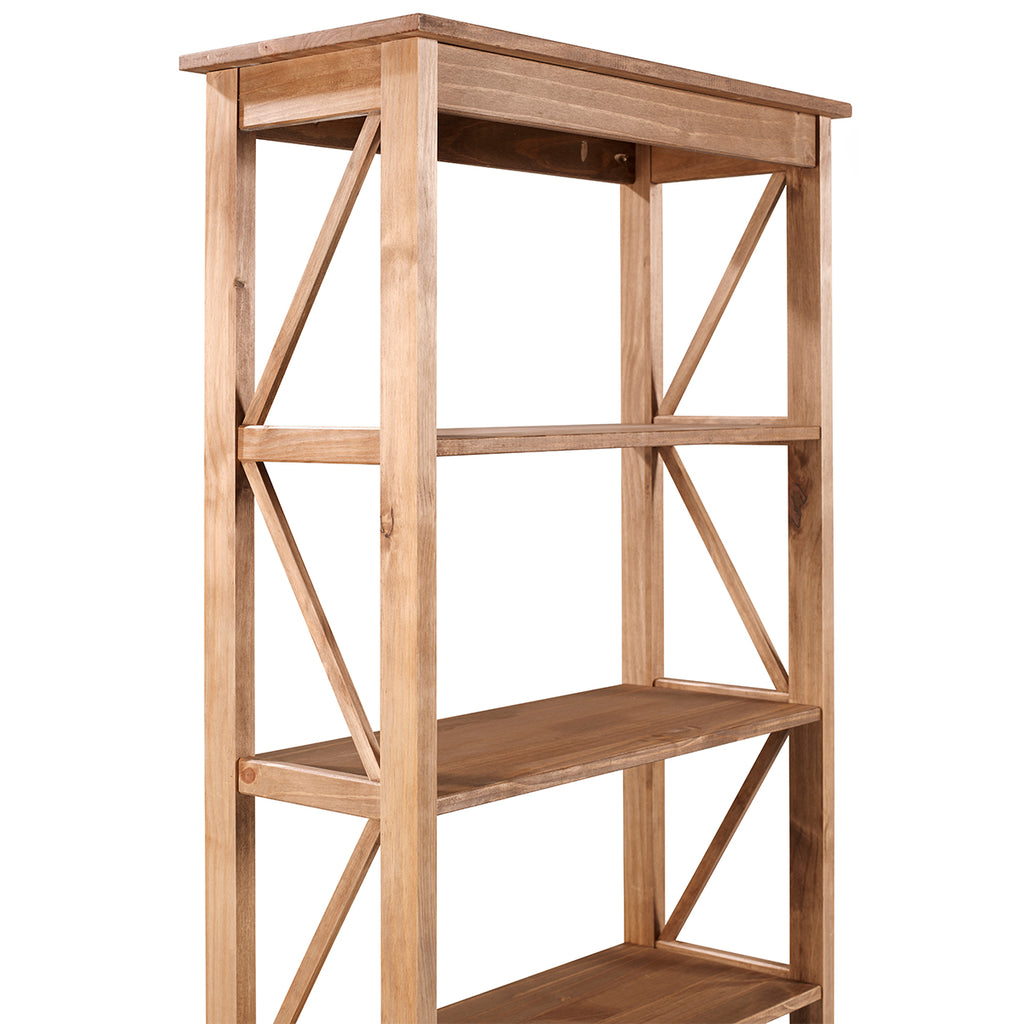 Wood Shelf Unit 5 Tier Corona | Furniture Dash