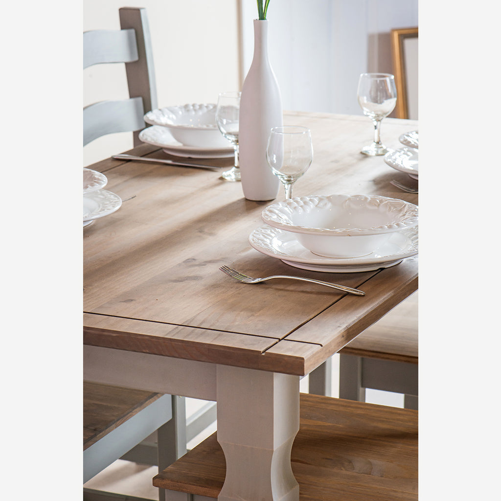 Wood Dining Table Large Corona Gray | Furniture Dash