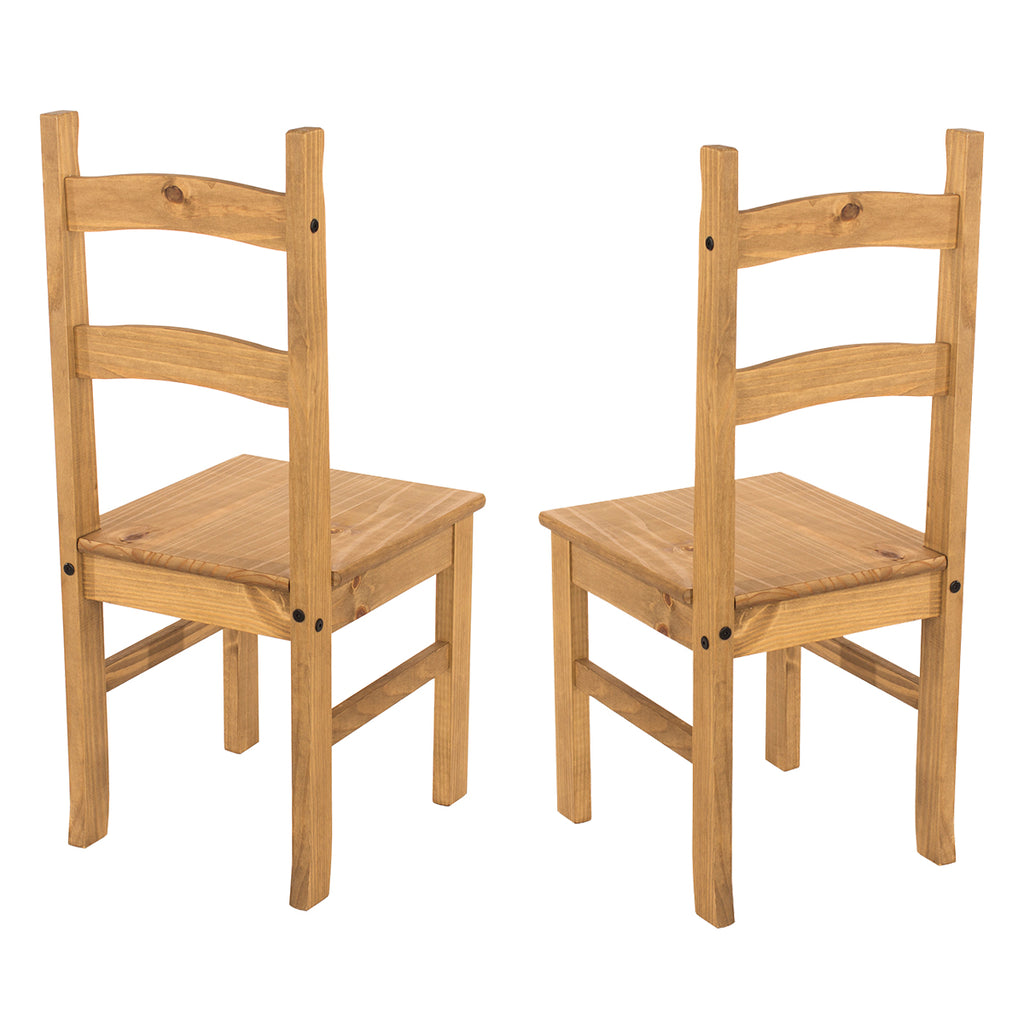 Solid Wood Dining Chair (Set of 2) Corona | Furniture Dash