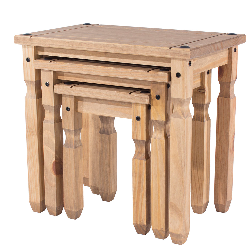 Wood Nest of 3 Tables Corona | Furniture Dash