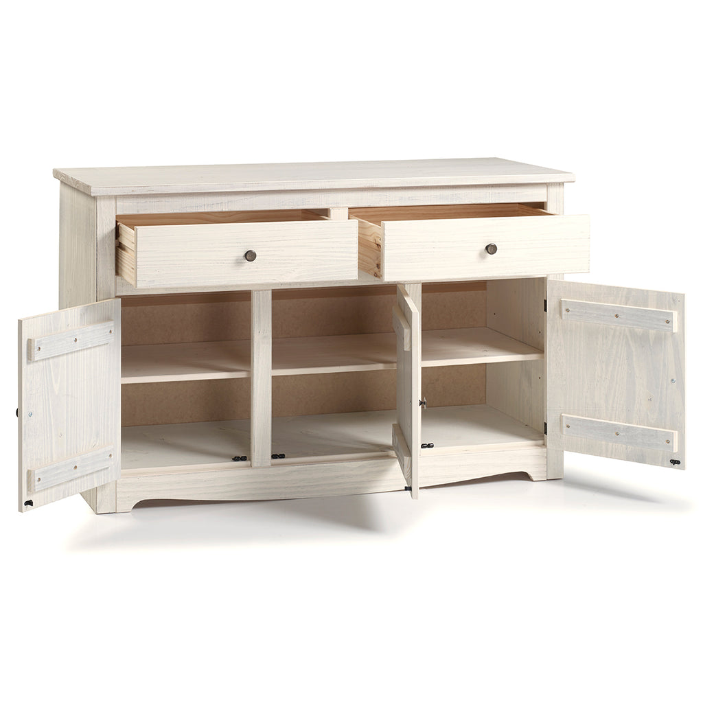 Wood Buffet Sideboard White Distressed | Furniture Dash