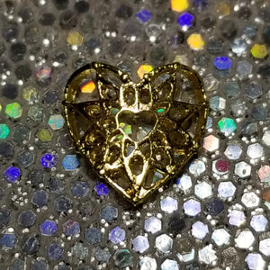 Harvesting Love || Filigree Nail Art Charm || Gold tone Stud