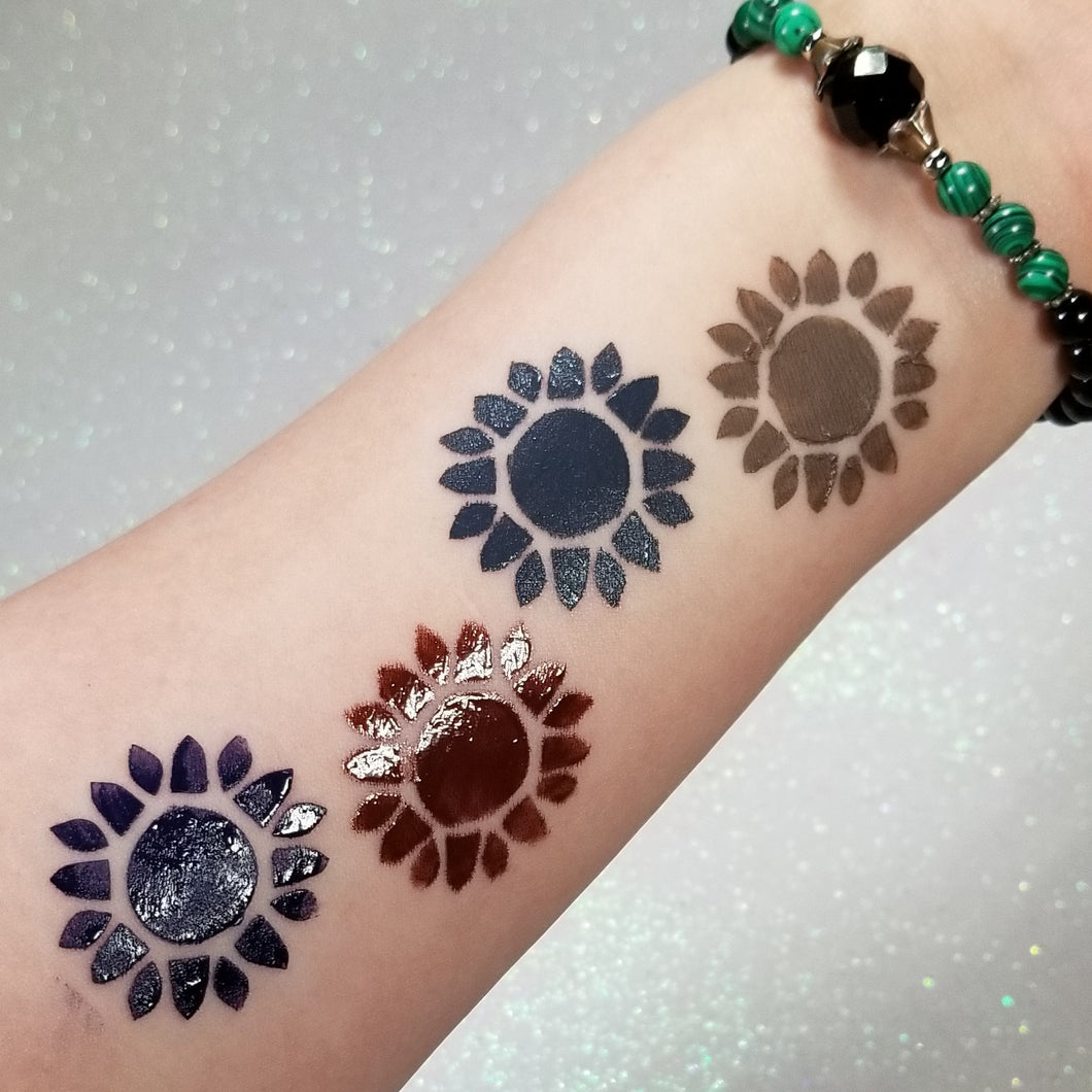 Suns of Flowers - Pop Swatch || Lippie EyeShadow Stencil