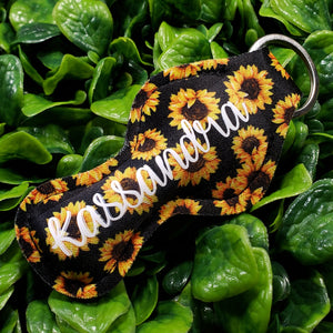 SunKeeper || Custom Sunflower Keyring Balm Holder || Neoprene Keychain