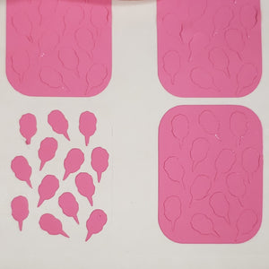 Candy Floss Nail Vinyl || Cotton Candy Stencil || Mani Art Sticker Decal