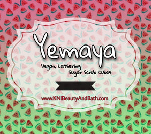 Yemaya 🍉 - Terra Cubes || Lathering Scrub || Cuticle & Body Wash