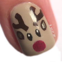 Load image into Gallery viewer, Won't You Guide My Sleigh Tonight || Nail Art Vinyl || Rudolph Sticker