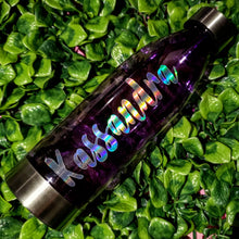 Load image into Gallery viewer, Hydrating Libation || Purple with Custom Name || Water Bottle || Stainless Steel Lid & Base