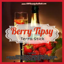 Load image into Gallery viewer, Berry Tipsy 🍓🥂 - Terra Stick || Exfoliating Soap Scrub || Large Cuticle, Elbow, & Body Tube