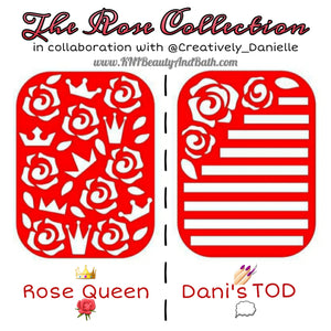 Rose Queen 👑🌹 || The Rose Collection || Nail Art Vinyl || Collab Sticker