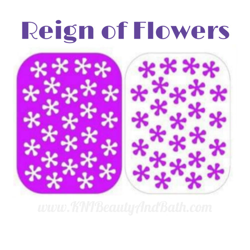 Reign of Flowers Vinyl || Purple Flowers Nail Art Stencil || Decal Sticker