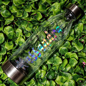 Hydrating Libation || Clear with Custom Name || Water Bottle || Stainless Steel Lid & Base