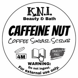 Caffeine Nut - Cuticle Scrub || Hazelnut Coffee Exfoliant || Coconut Body Rub