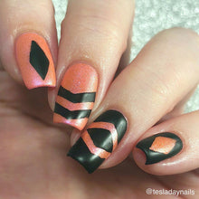 Load image into Gallery viewer, Abstract Chevron || Nail Art Vinyl || Zig Zag Rhombus Sticker