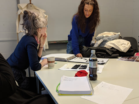 Final assessment on live brief, ROOF 2018, Coleg Sirgar 2nd year fashion students