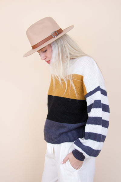 Block Stripe Sweater