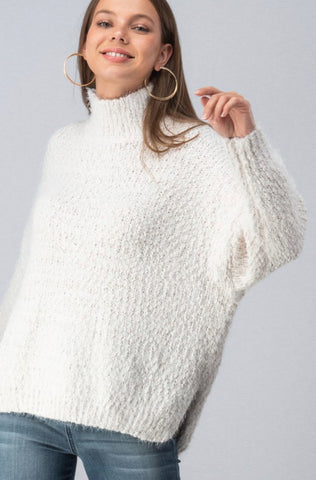 High Neck Dolman Sweater