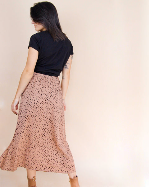 Cheetah Midi Skirt - Mauve