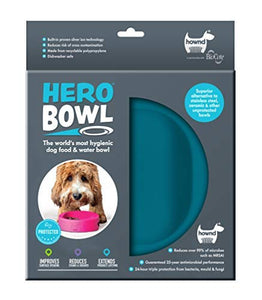 Hero Bowl Dog Pet Products - Antimicrobial Pet Food & Water Bowl-World's Most Hygienic Dog Bowl