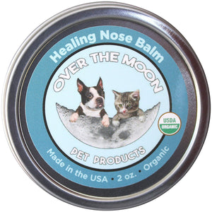 Over The Moon Pets Organic Dog Nose Balm- Unscented, Repairs Cracking, Dry Dog Noses, 2 oz.