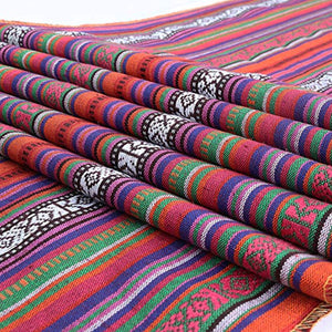 Cool Mexican Serape Table Runners for Mexican Parties- Hand woven