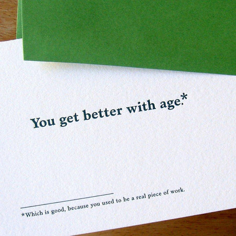 Age Is Only A Number Birthday Card