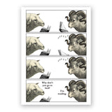 Sleeping Sheep Card