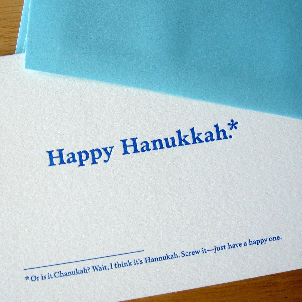 Happy Hanukkah.