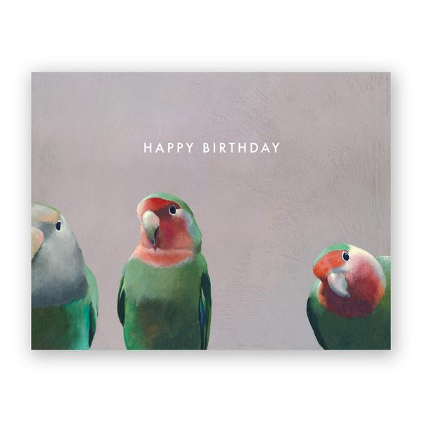 Happy Birthday Parrots Card