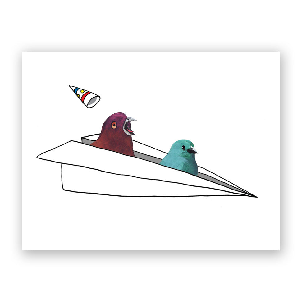 Two Birds in a Paper Airlplane