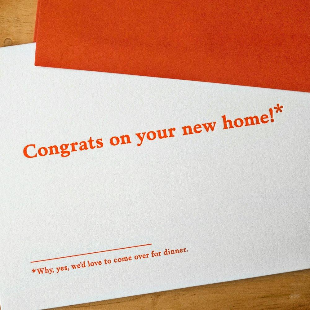 Congrats on your new home!