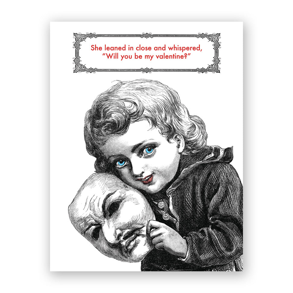 Close Girl Valentine Card